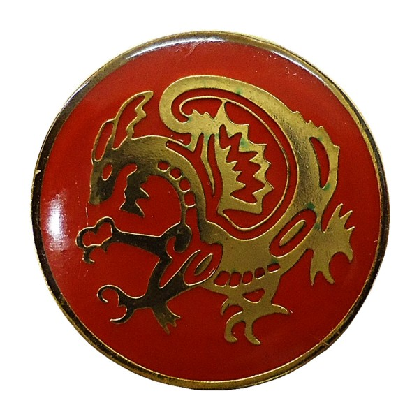 Chest Pin RED DRAGON
