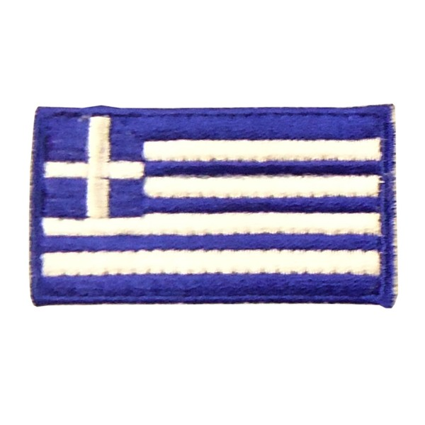 Embroidery Patch - Greek Flag Small 5cm x 7cm