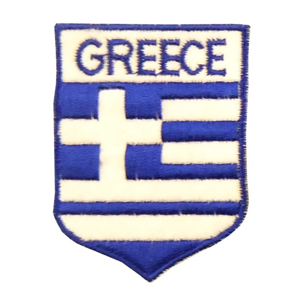 Embroidery Patch - Greek flag Oval GREECE Small