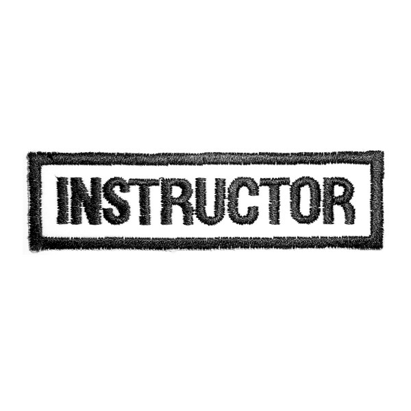 Embroidery Patch - INSTRUCTOR