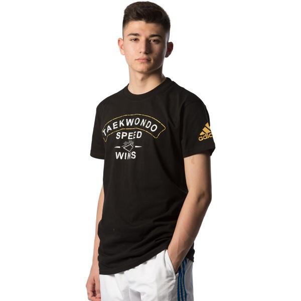 Κοντομάνικη μπλούζα Adidas TAEKWONDO Speed Wins - adiTCL01