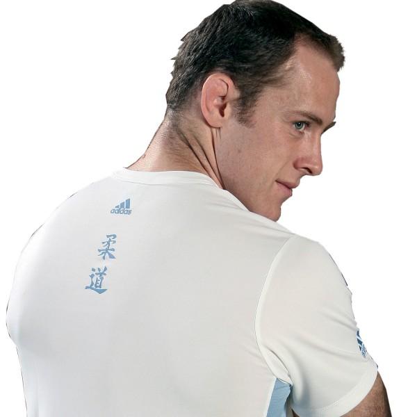 T-shirt Adidas - JUDO White / Light Blue