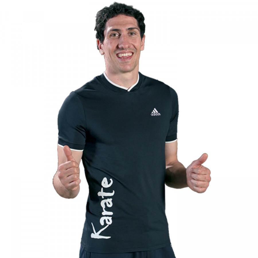 T-shirt Adidas - KARATE Navy Blue & White