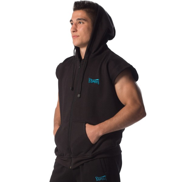 Jacket BUDO SPIRIT No Sleeves Black With Hood