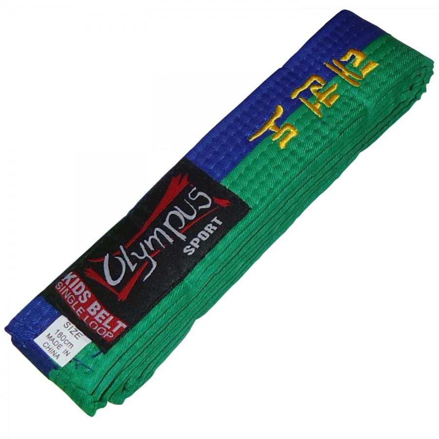 Ζώνη Olympus Kids TKD Μίας Περιστροφής Δίχρωμη