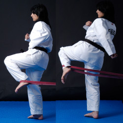 Rubber Band Flat for Power-Kick Training
