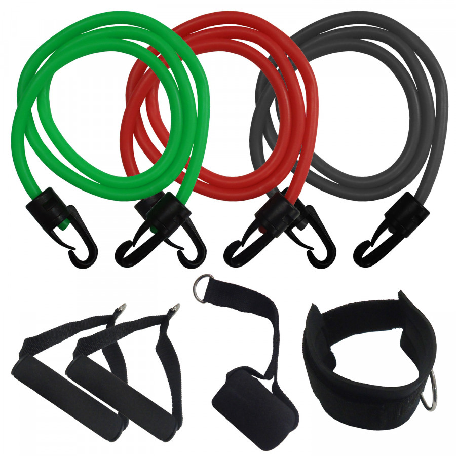 Three Piece Resistance elastic Band Set Multi Workout G530