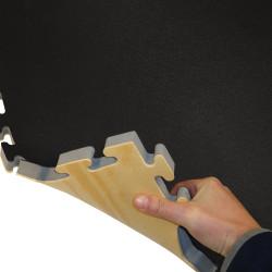 Tatami Puzzle Mat Eva Foam WOOD Profile / Black 100x100x2.5cm