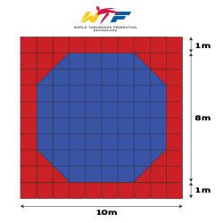 Tatami Puzzle Mat FOAM JY 50Ο HARD Octagon 100x100x.25cm