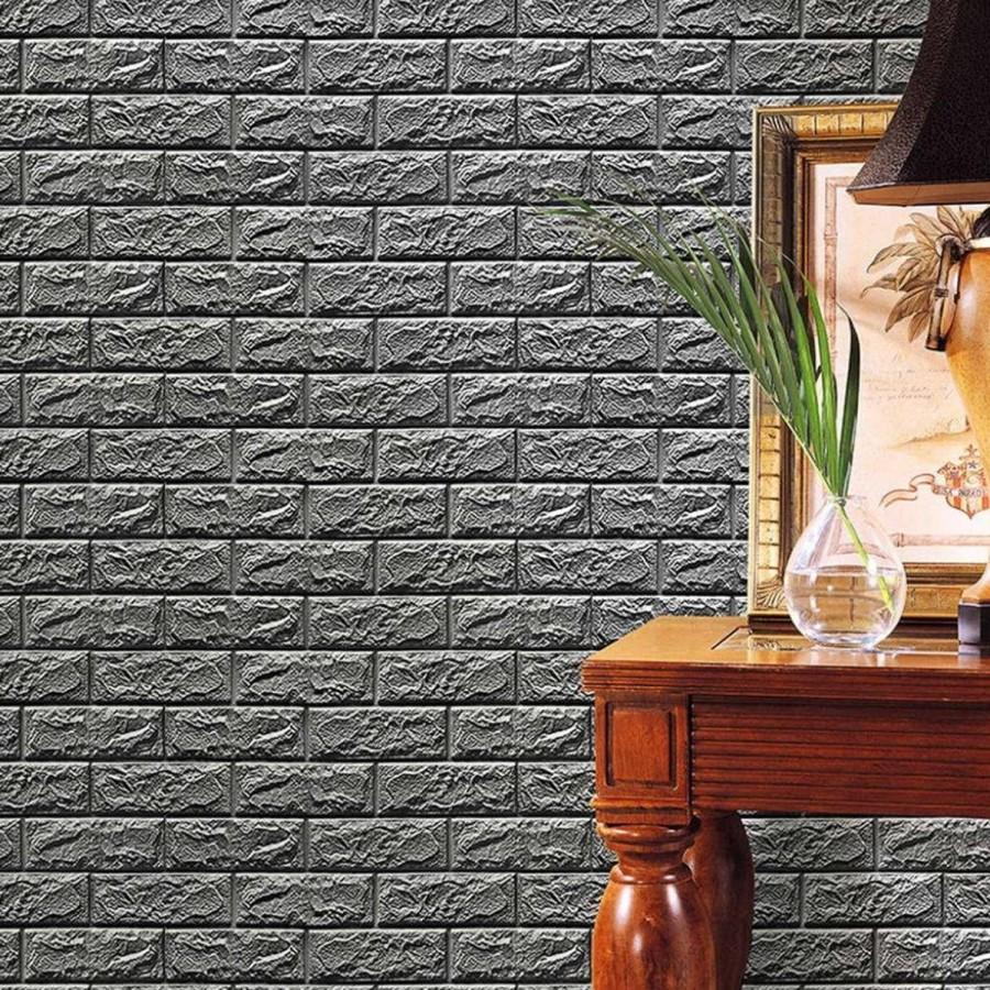 3D Foam STONE WALL Sticker