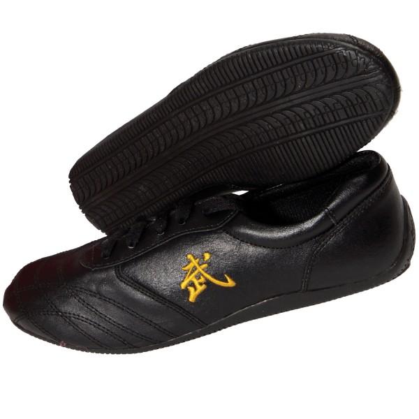 Wu-Shu Shoes LEATHER Black
