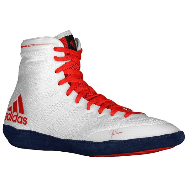Wrestling Shoes adidas adiZero VARNER White/Red - M18728