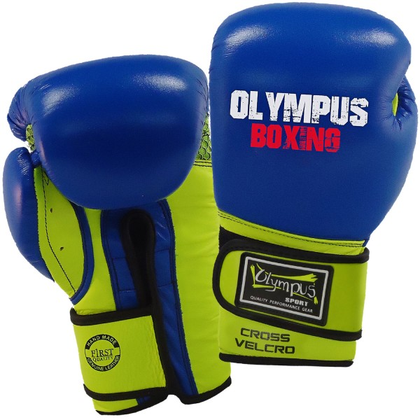Boxing Gloves Olympus PRO Mexican CROSS Velcro Leather