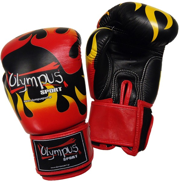 Boxing Gloves Olympus by RAJA Genuine Leather FLAME
