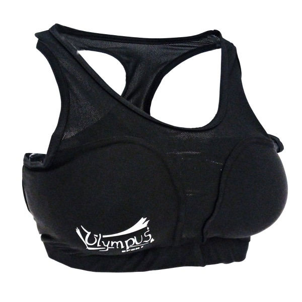 Ladies Chest Guard and Insert Cups Olympus SPANDEX Black