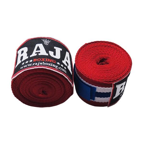 Hand Wraps Raja Cotton Traditional 5x500cm - Blue / Red / White