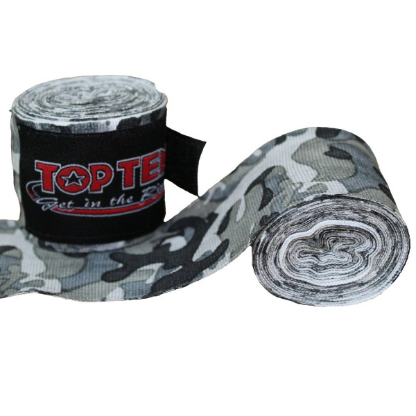 Hand Wraps TOP TEN Elastic BOXING Bandages Camouflage Pair
