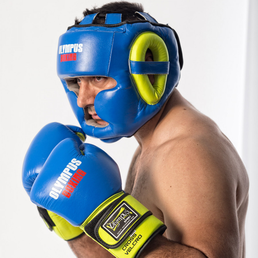 Head Guard Olympus Leather BOXING PRO