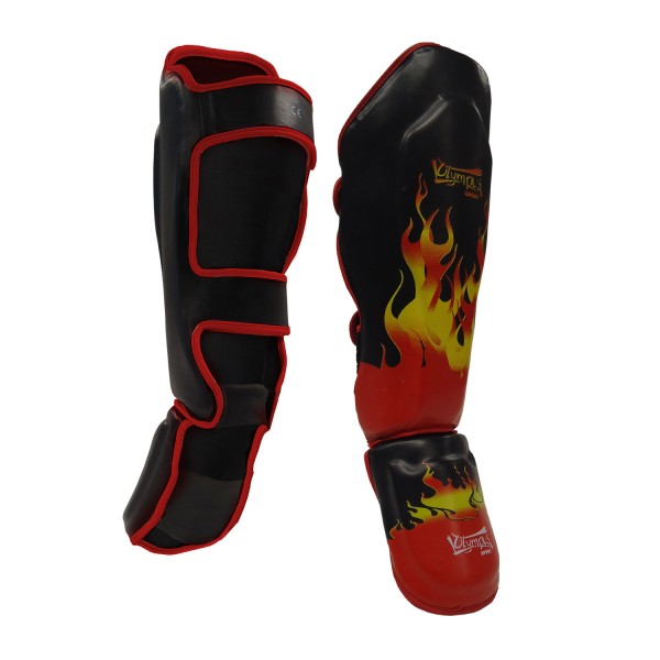 Shin-Instep Guard olympus KING PVC - BURNING FLAME