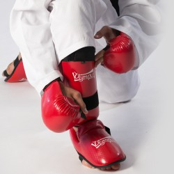 Shin Instep Guard Olympus Karate Carbon Fiber PU