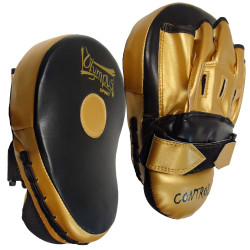 Focus Mitt Olympus CONTROL Curved Black/Gold Pair