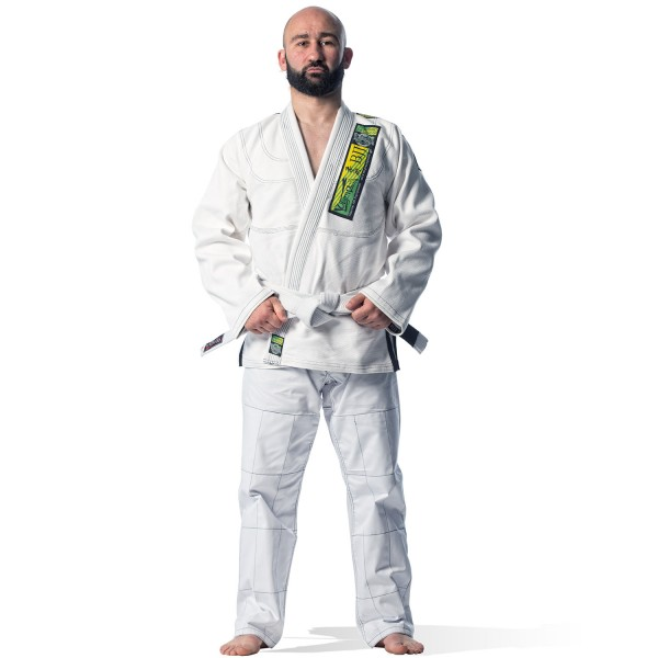 Brazilian Jiu-Jitsu Uniform Olympus White 550 gr Pearl (Extra Pants without Logo)