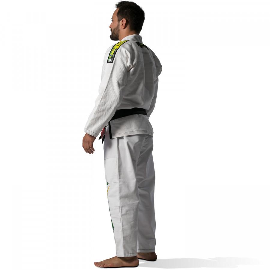 Brazilian Jiu-Jitsu Uniform Olympus White 550 gr Pearl (Extra Pants without Logo)