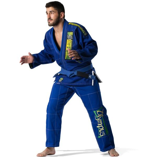 Brazilian Jiu-Jitsu Uniform Olympus Blue 550 gr Pearl (Extra Pants without Logo)