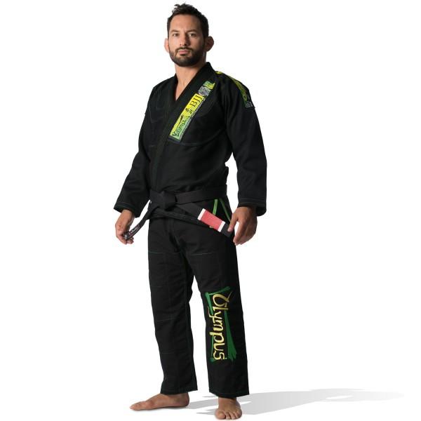 Brazilian Jiu-Jitsu Uniform Olympus Black 550 gr Pearl (Extra Pants without Logo)