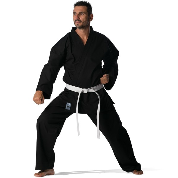 Martial Arts Uniform Black 8oz Olympus