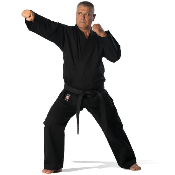 Martial Arts Uniform Black 14oz Olympus