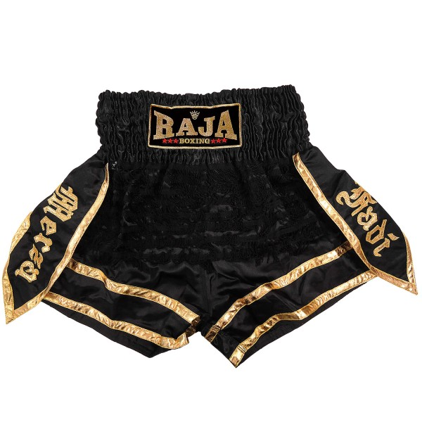 Thaiboxing Shorts Raja WARRIOR Black / Gold - RTB-303