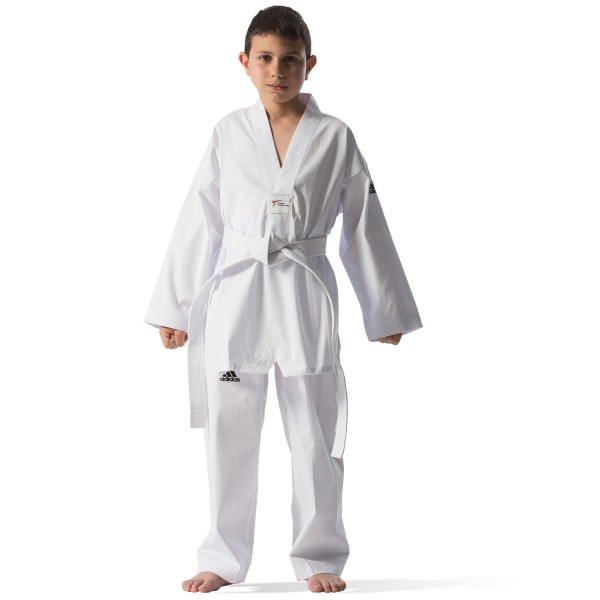 Taekwondo Uniform Adidas ADI-START White Collar Polyester - adiTS01