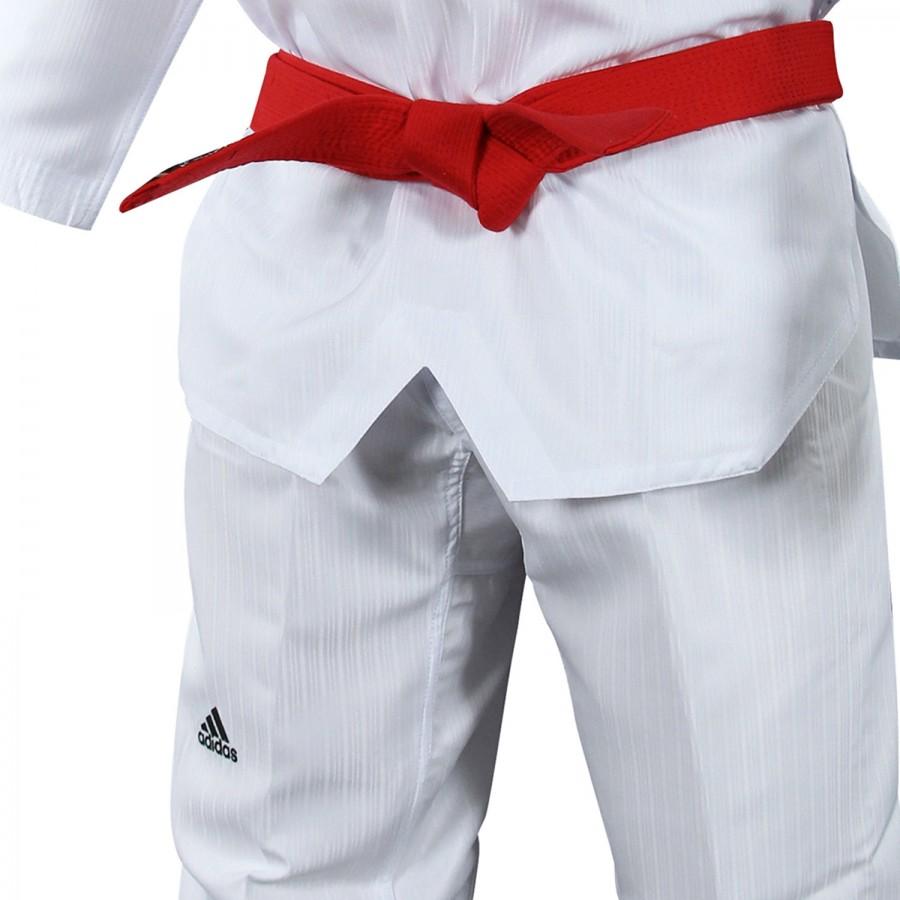 Taekwondo Uniform Adidas ADI-START Black/Red Collar - adiTS01