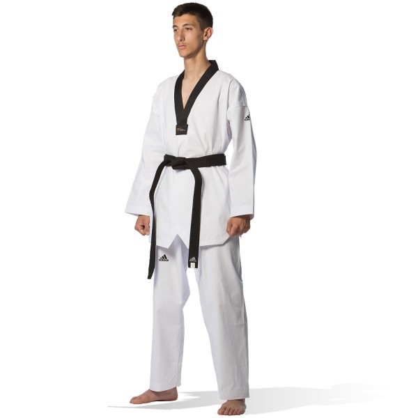 Taekwondo Uniform Adidas ADI-START Black Collar - adiTS01
