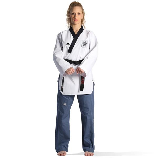 Dobok Adidas POOMSAE Adult Female White/Light Blue – ADITPAF01