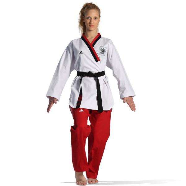 Dobok Adidas POOMSAE Youth Female White/Red – ADITPYF01