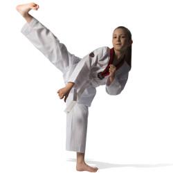 Taekwondo Uniform - KYORUGI POOM Black/Red Collar