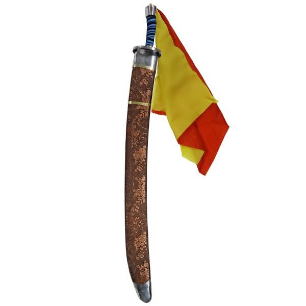 Παραδοσιακό Σπαθί Wushu Dan Dao Broad Εύκαμπτο Χάλκινη Θήκη