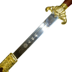 Παραδοσιακό Wushu Σπαθί Σκληρό Τσούμπα Νυχτερίδα Χρυσό/Καφέ